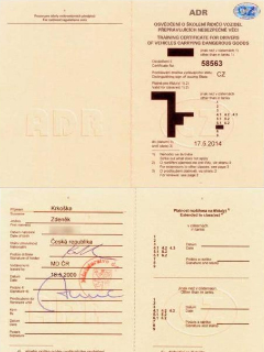 Drivers ADR Certificate